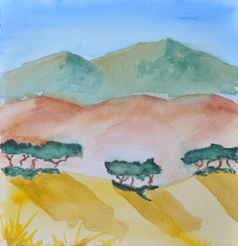 Mountains Hills Trees 02