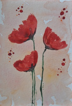 Set of 2 Poppy Cards 04