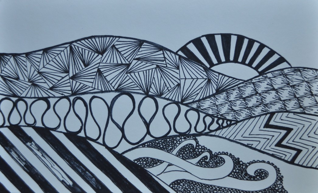 Zen Tangle Landscape