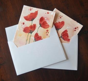 Set of 2 Poppy Cards 02